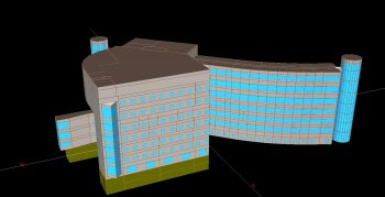 Cornell University - Rhodes Hall Elevation Energy Model