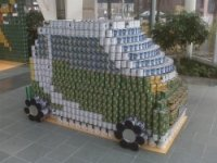 canstruction - food drvie