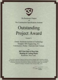 M/E Engineering receives Rochester CSI Outstanding Project Award