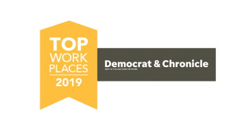 Top Workplace in Rochester, by the Democrat & Chronicle logo