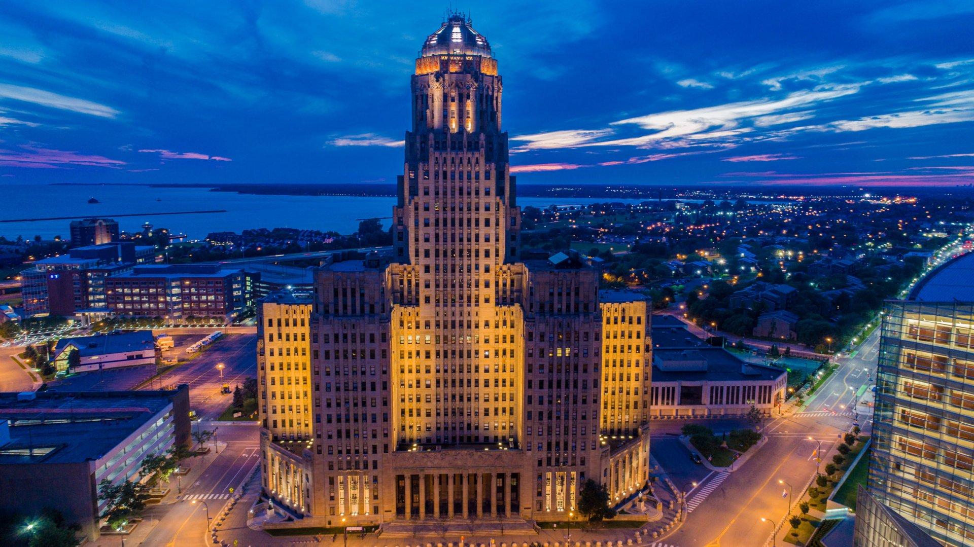 Buffalo City Hall - Exterior Lighting