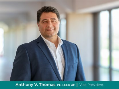 Anthony V. Thomas, PE, LEED AP Promoted to Vice President