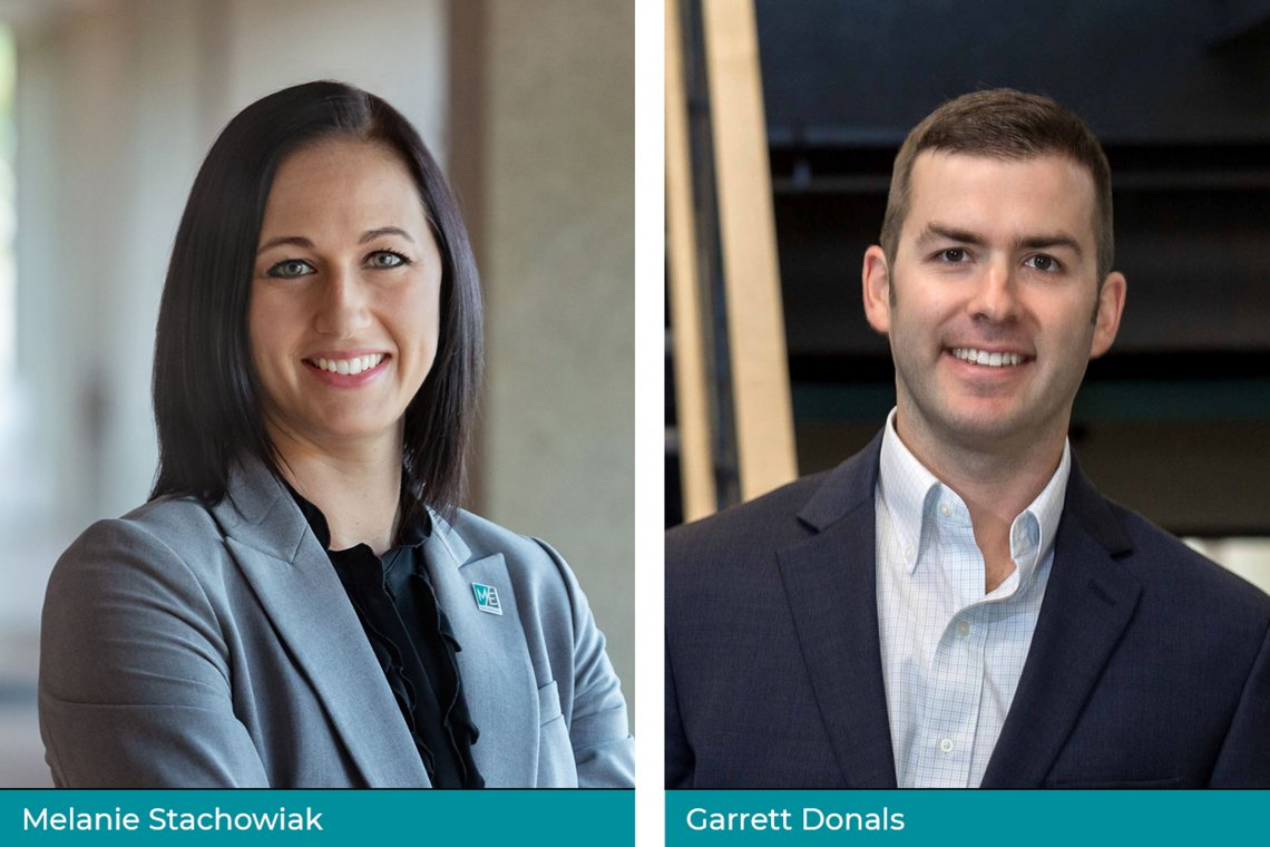 M/E Engineering is pleased to announce our newest Partners, Melanie Stachowiak, P.E., LEED AP BD+C, CMVP and Garrett Donals, P.E.