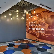 reception space, Datto offices, Rochester, NY